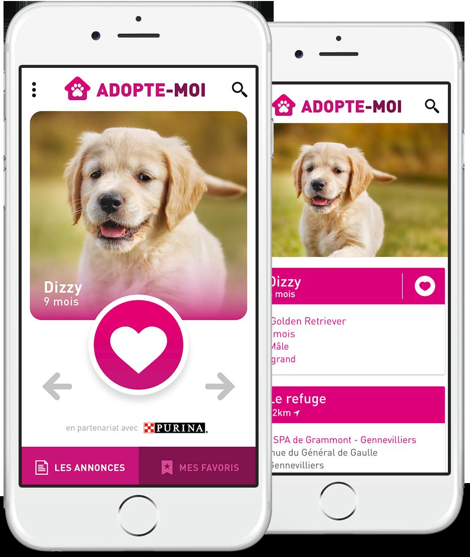 Adopte moi : application d'adoption de chiens et chats