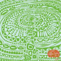 「シカクきゃべつ」ハンカチ 48cm x 48cm 1600円