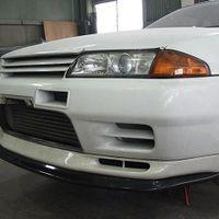 R32GT-R フロントアンダーリップスポイラー カーボン¥54000 FRP¥43200