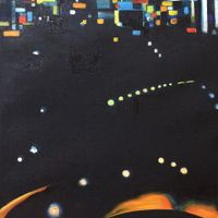 """Elaboration - November 23rd 2013, New York City 24""""x14"""" Oil and wax on linen SOLD"""