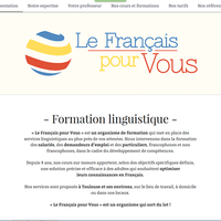 Le Français pour Vous - Website's design & general presentation for an autonomous use