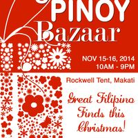 Global Pinoy Bazaar, Rockwell Tent, Makati, Nov. 15 to 16, 2014