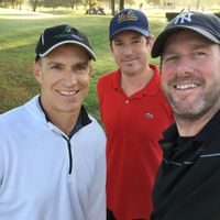 Team Speedgolf SoCal (Garlin, Tim and Larry) after another early morning lap around Lakewood CC, 12-9-14
