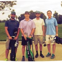 Fun 18 with new Speedgolfers, Jason Vaughn, Garlin, Dan Goddard and Tim Goddard at lakewood CC 11-11-14