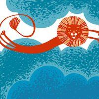 Keinu meren yllä, lastenrunokirjan kansikuva, Tammi (2009), digitaalinen tiedosto