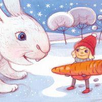 Lumi -tonttu, postikortti, S2 Corporation (2013), puukynä ja peiteväri
