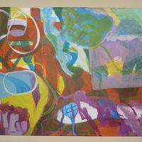 composition algues - acrylic cm. 40X50