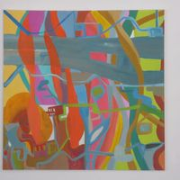 composition branches - acrylic cm. 60X60
