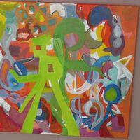 composition corail - acrylic cm. 40X40