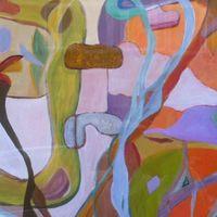 composition lianes - acrylic cm. 60X80