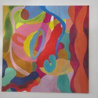 composition méduses - acrylic cm. 60X60