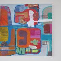 composition vegetale - acrylic cm. 60X60