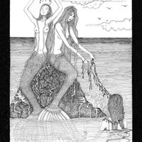 Mermaids on a rock