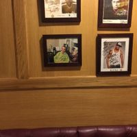 Joey's picture hangs on wall at Sarges Deli