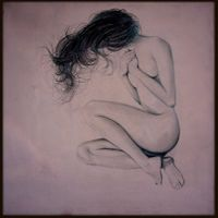 FEMMININO SACRO, 30x30, graphite on canvas, 2012. Private collection