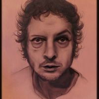 ET IN ARCADIA EGO (self-portrait), 35x25, graphite on canvas, 2012