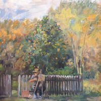 JB Painting under the Orange Tree