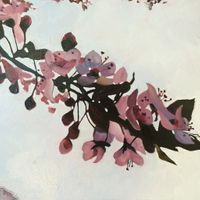 Blossoms on Grey - Apple I SOLD