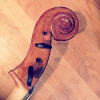 Scrollwork on a cello
