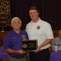 Lion Wiley Barton receiving the Lion of the Year award, well deserved Wiley!!!