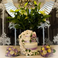 Flowers and Cake Display in The Elmfield Dining Room