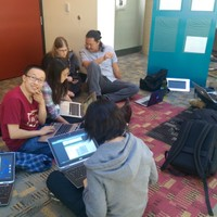 New app developers continued to work on their apps throughout the Eco Hackathon.