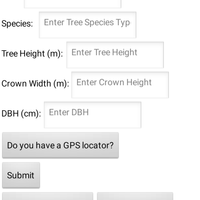 The Tree Structure Data Collector app allows users to collect tree structure data as well as visualize the collected data.