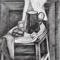 Nature morte au graphite par Yann
