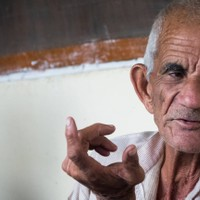 90 year old man in Amroh who told us a lot about the village