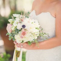 bridal bouquet unique design blush and ivory