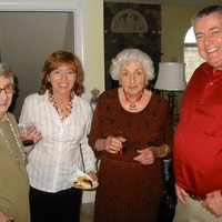 pictured from left: sister-in-law Dorothy, Dorothy's daughter-in-law Kasia, Solange, son Crane