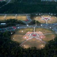 Night photo of Biloxi Sports complex