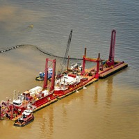 Pumping barge - Louisiana Coastline Reconstruction