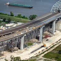 Huey P Long Bridge construction - New Orleans, LA