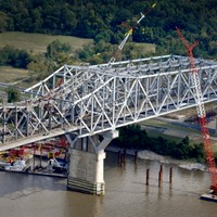 Huey P Long Bridge construction