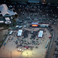 Night concert - Aerial photo