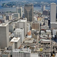 Downtown New Orleans - Helicopter Photo