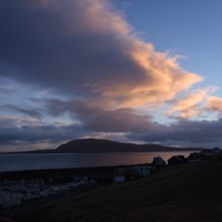 Sunset in the Faroe Islands