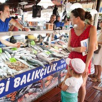 Fish fanatic in Turkey