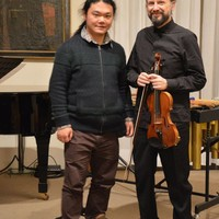 "03.12.2015 with Raphael Negri, violinist of New Made Ensemble, after performed my piece ""I Colibrì"" at New Made Week in Lovere"