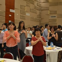 Science of Laughter exercise with 289 participants at the Ministry of Education (MOE) Retreat March 2016