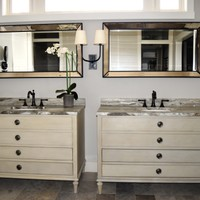 Furniture-like Vanities in Master Bath Remodel