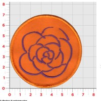 Stoff-Sticker Rose Orange