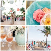 Destination Wedding Details in Islamorada, Florida.  Flowers by Designs by Darenda, photography by Elaine Palladino.