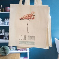Tote bag flamand rose - Salon Jolie Môme