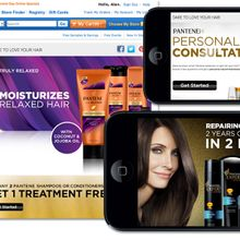 P&G/Pantene Brand Stores, Mobile Apps & Ecommerce