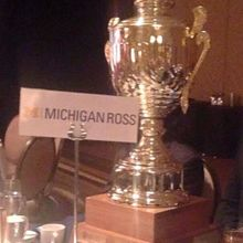 I'm SO proud of winning the T.E.A.M. Trophy for Michigan Ross while serving as an elected Liaison. Go Blue!