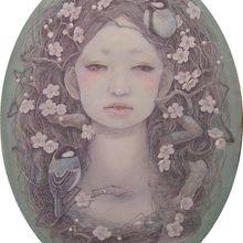 協調ー春ー 変型(24.0×18.0cm) Canvas