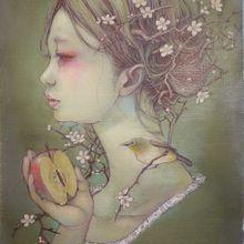 春の予感ーメジロー SM Canvas
