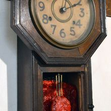 Clock with heart